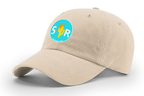 SR Logoed Hat - Stone/Blue Circle