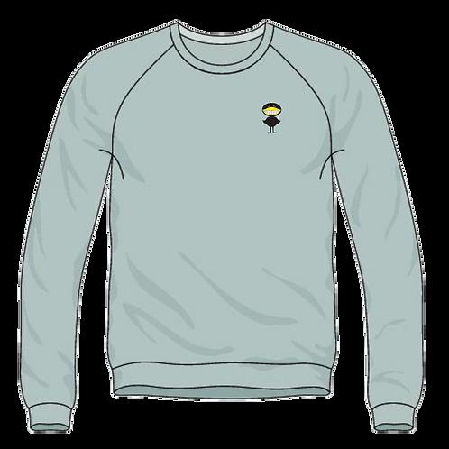 "Distressed ""Big Black Bird"" Long Sleeve T-shirt"
