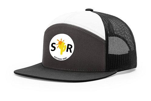 SR Logoed Hat - 7 Panel Black/White White Cir