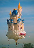 The Big Black Bird features Disney's Enchanted Castle Special Shape Hot Air Balloon