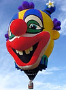 The Big Black Bird features the Clown Head Special Shape Hot Air Balloon