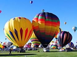 Balloons Lifting Off
