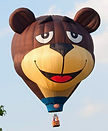 The Big Black Bird features the Sugar Bear Special Shape Hot Air Balloon