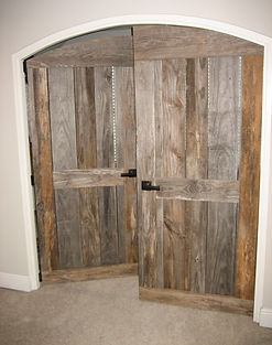 RUSTIC CREATIONS Barn-wood doors, custom made