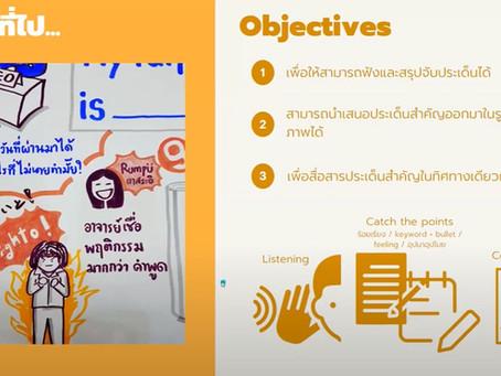 Visual Recording, Graphic Recording การฟังเพื่อจับประเด็นและสื่อสารเป็นภาพ