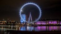 The London Eye by night, London, UK