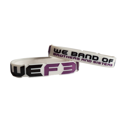 WRISTBAND - WE BAND OF BROTHERS & SISTERS - WHITE