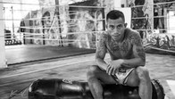 Fighter at the Muay Thai gym Legacy. Boracay, Philippines