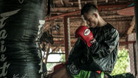 Fighter at the Muay Thai-gym in Boracay, Philippines