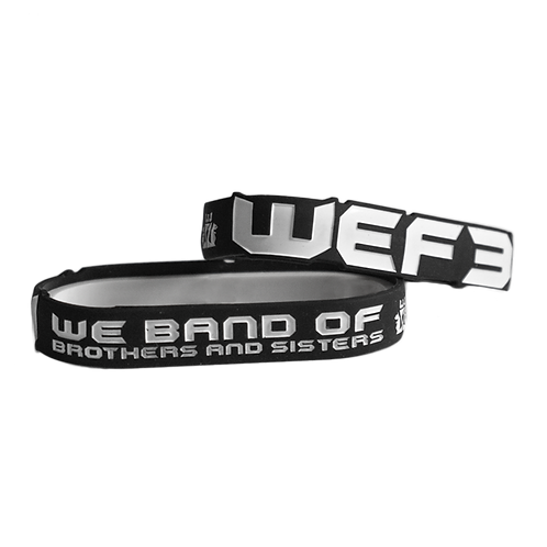 WRISTBAND - WE BAND OF BROTHERS & SISTERS - BLACK