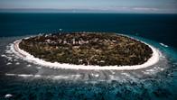 Aerial shot of Balicasag Island, Philippines