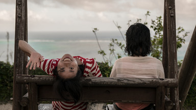 Mother and daughter enjoying the view in Okinawa, Japan