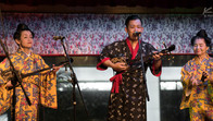 Traditional Okinawan band in Naha, Japan