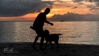 Playing with Buxter in Diniwid Beach, Boracay Island, Philippines