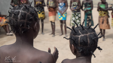 Young dancers in Kapepa, Zambia, Africa