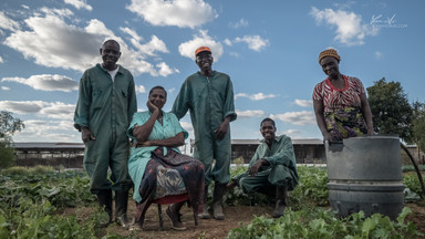 Workers in Luanshya, Zambia, Africa