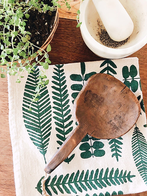 Antique Hand Carved Butter Scoop