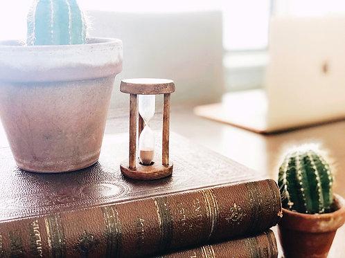 Antique Handheld Hourglass