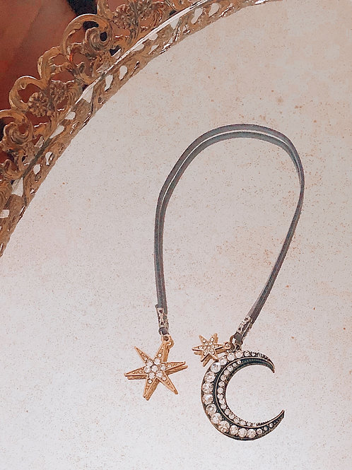 Celestial Star & Moon Bookmark