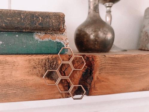 Honeycomb & Bee Bookmark