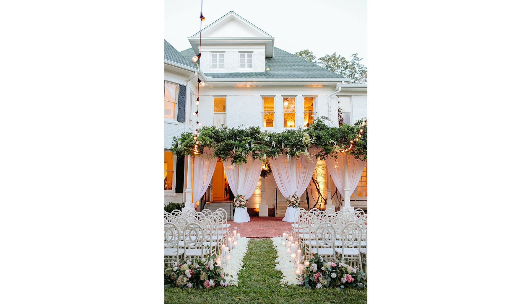 Woodbine Mansion Vertical Twilight