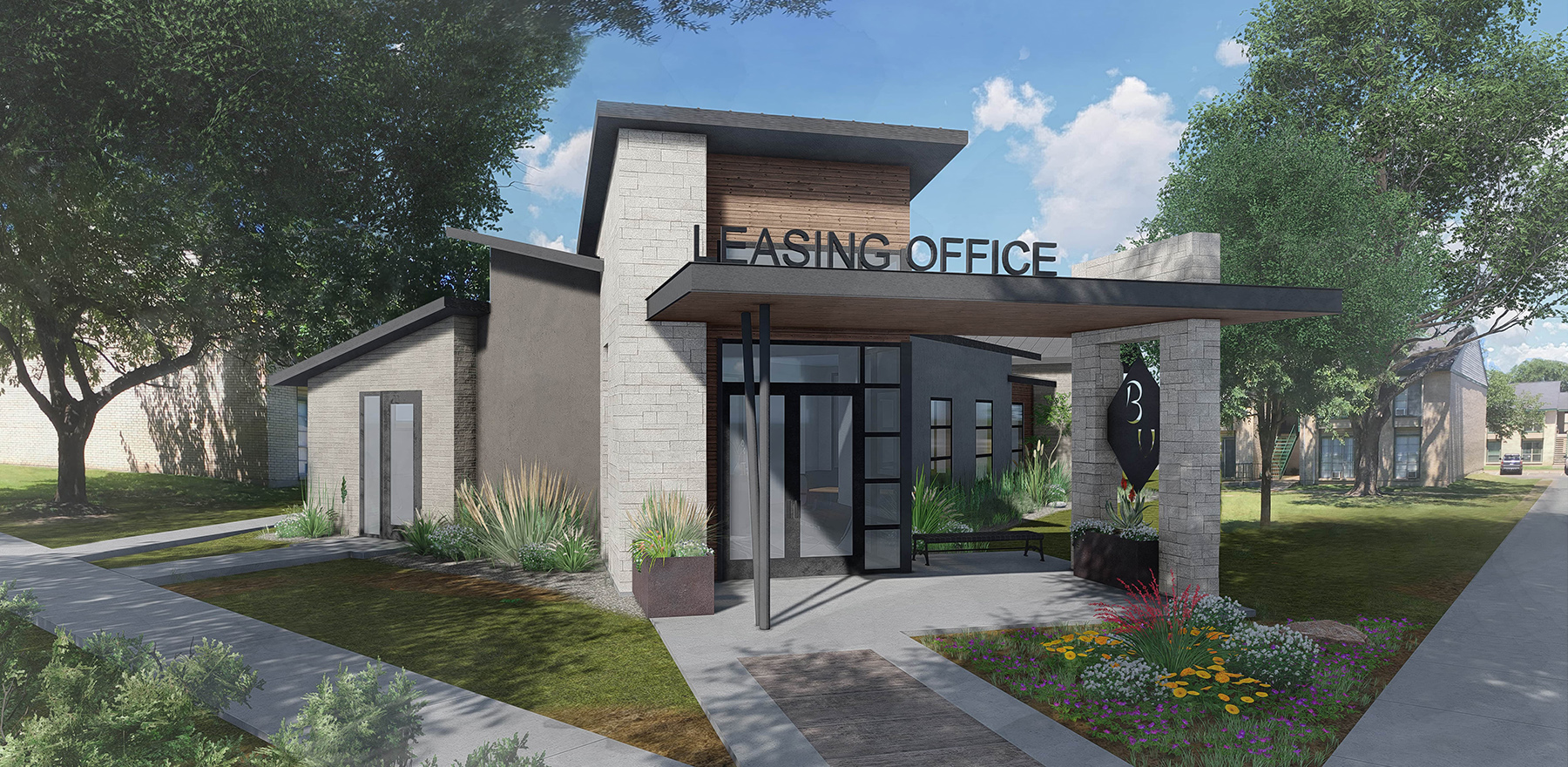Leasing Office Rendering