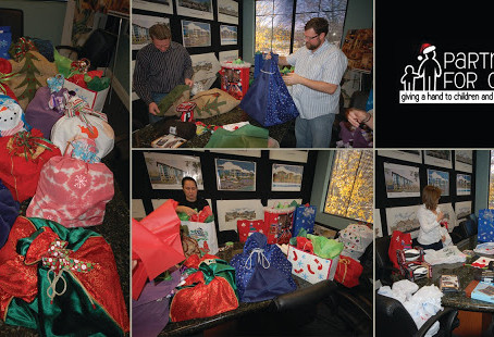 Cornerstone Employees Create Christmas Bags for Kids
