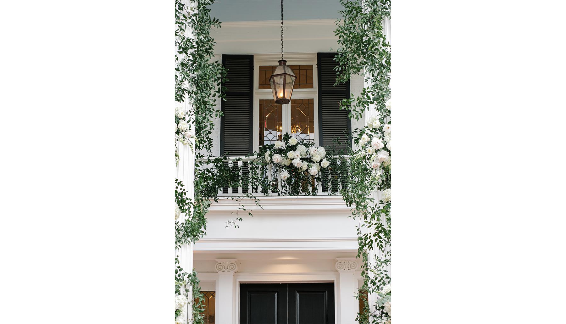 Woodbine Mansion Front Entrance Detail