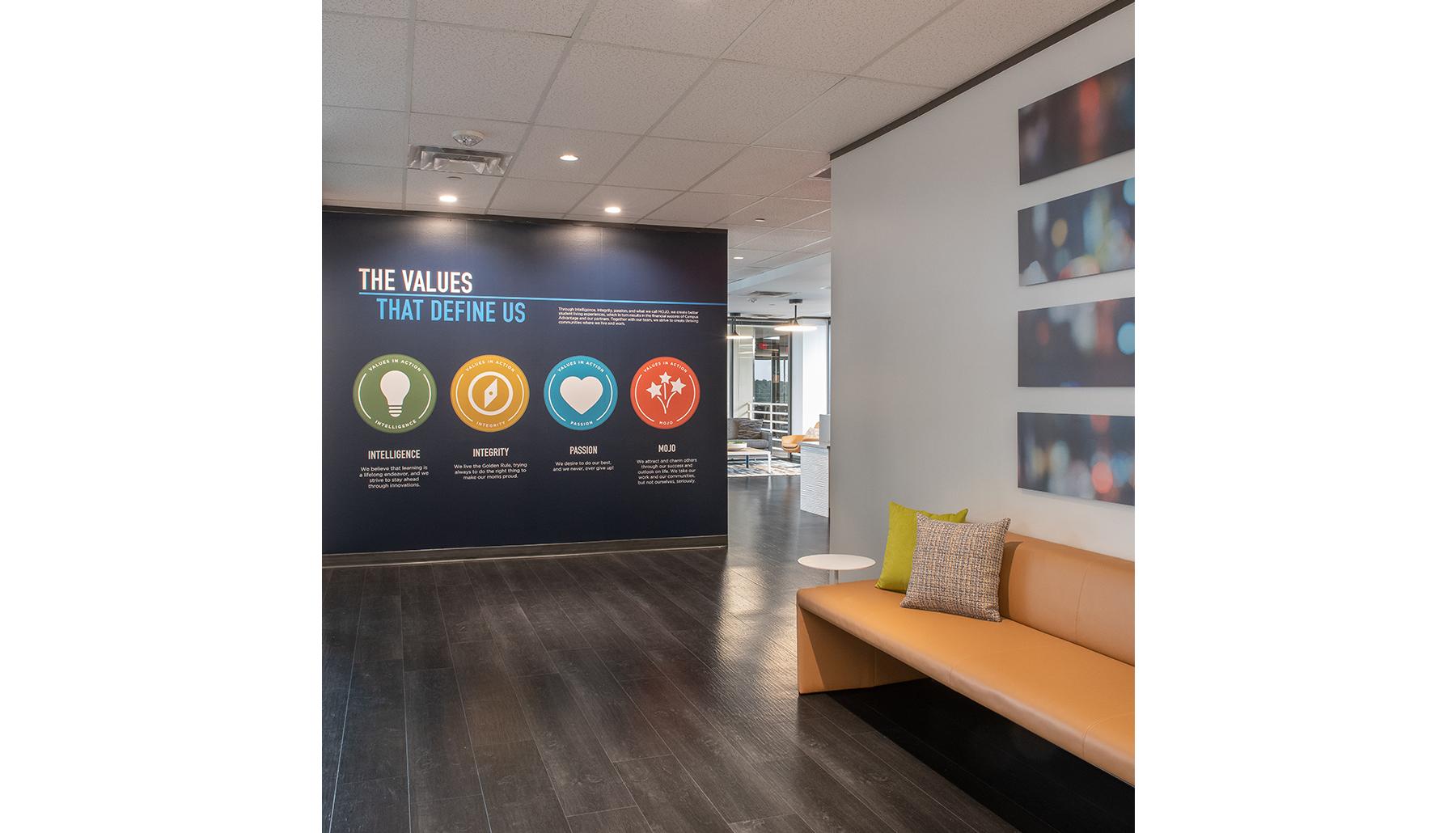 Campus Advantage Values Wall