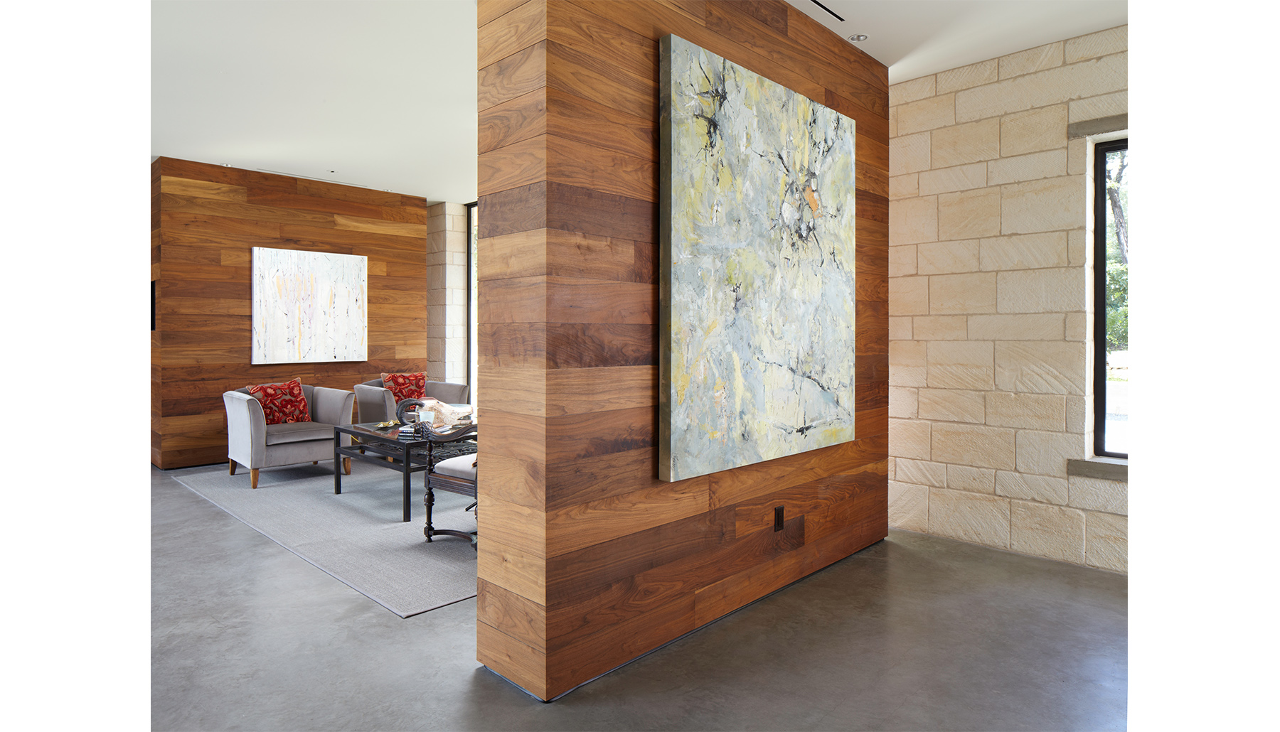 Hill Country Wood Wall