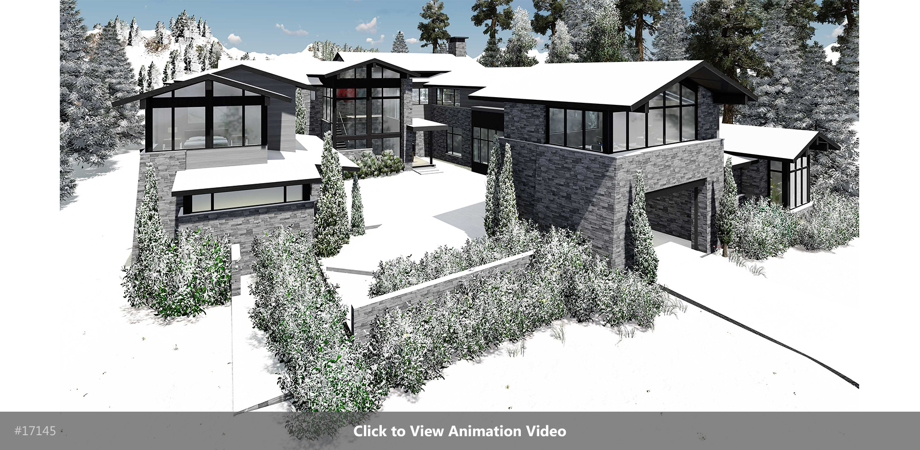 Winter Lodge Rendering