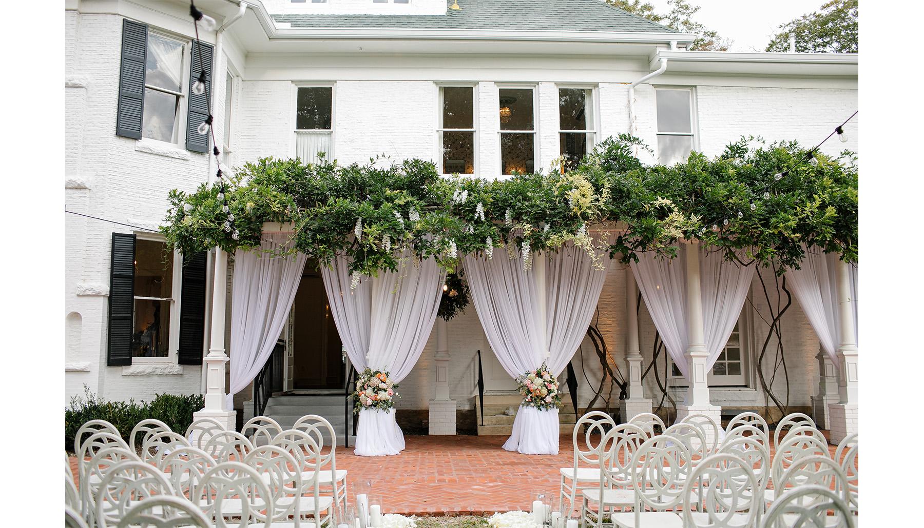 Woodbine Mansion Exterior Ceremony