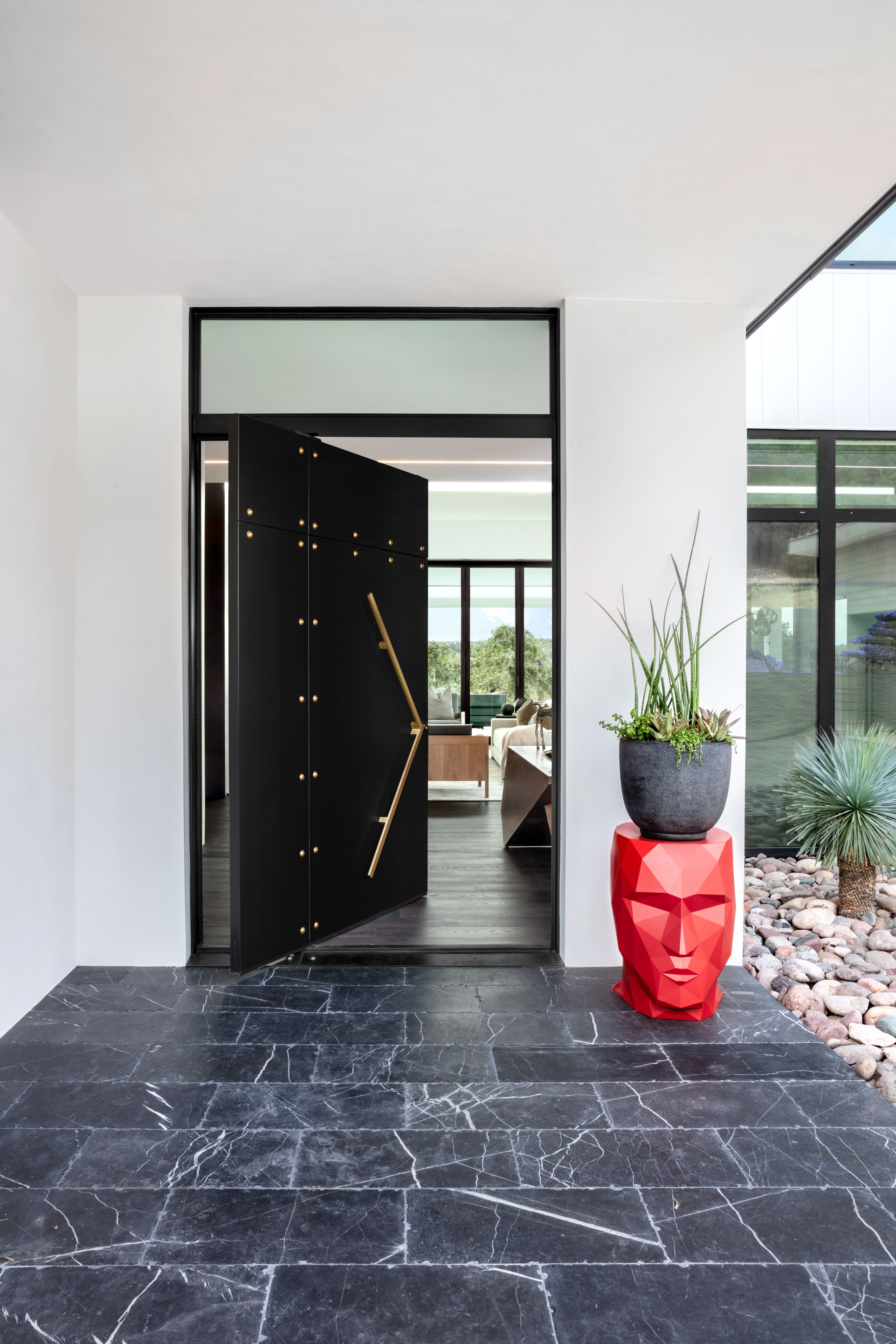 Blue Grass Front Door Entry