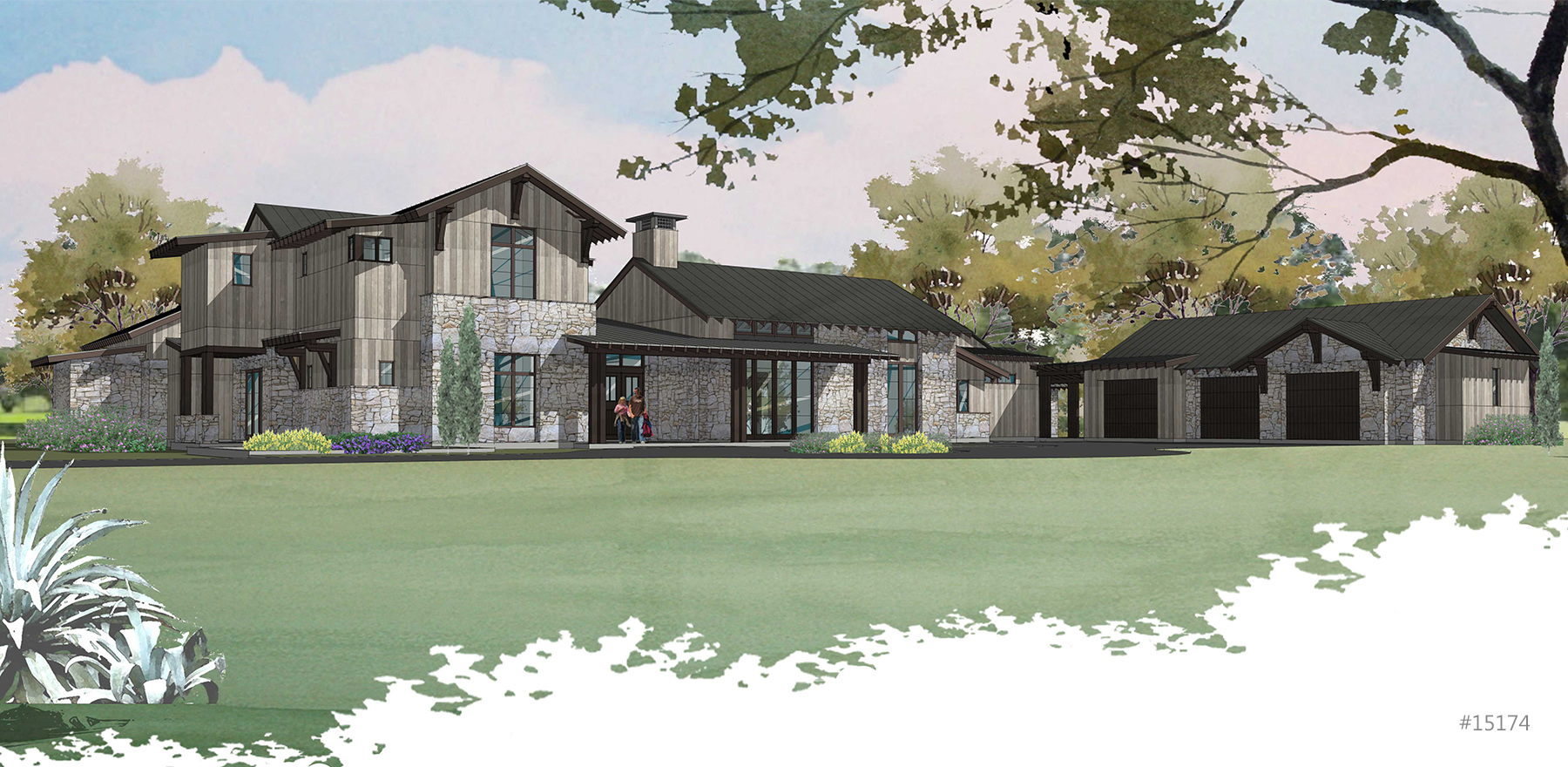 Contemporary Farmhouse Rendering