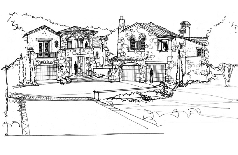 Front Exterior Sketch