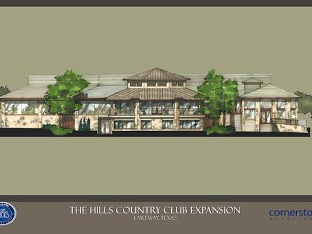 Cornerstone Architects design Hill Country Club