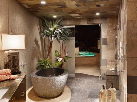 Houzz features Cornerstone's Spanish Oaks Tour Home Bath