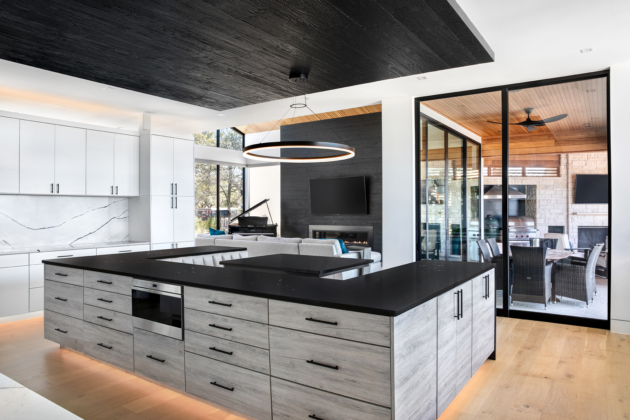 Two Coves Contemporary Kitchen Outdoor Living