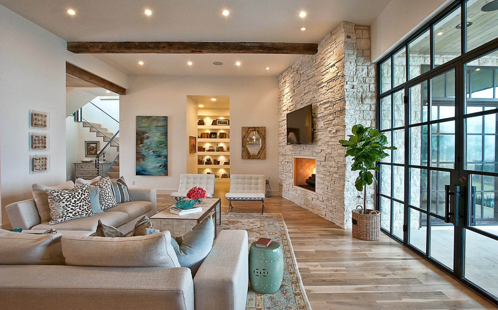 CatMountain-living room-glass