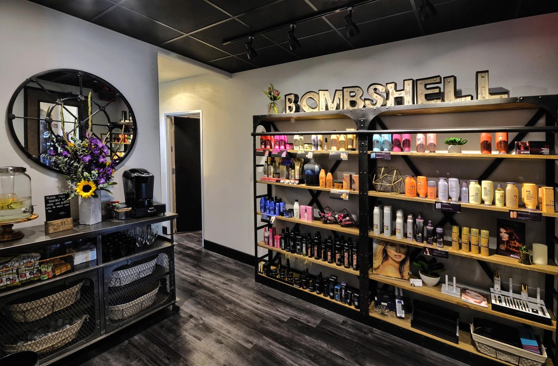 bombshell salon lakeway reception