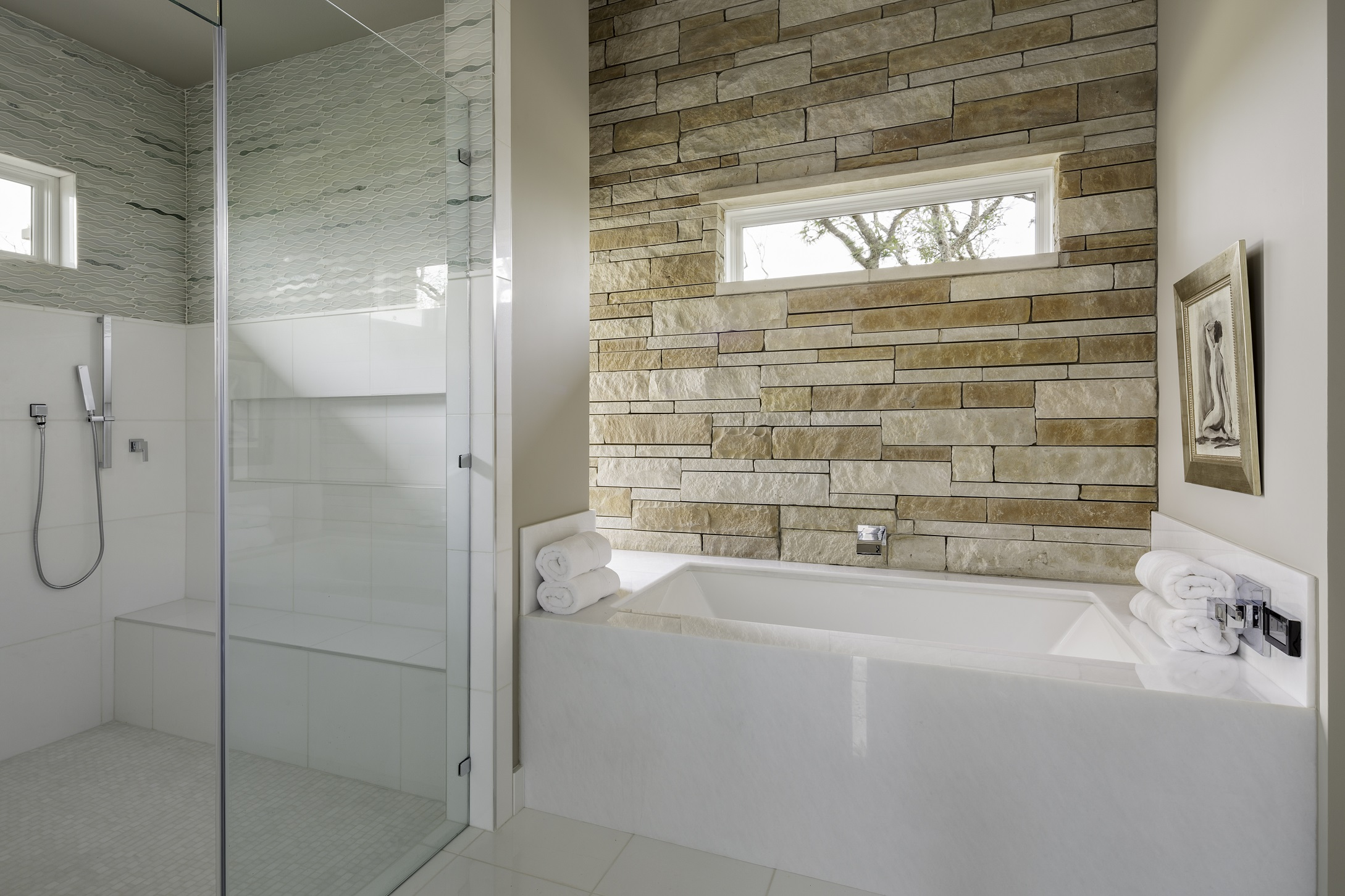 Duckhorn Residence - master shower