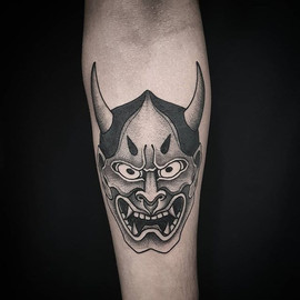 • Hannya on Diego's arm. Have a great #w