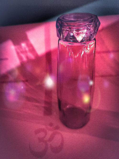 Janon sammuttava lasinen juomapullo, pinkki