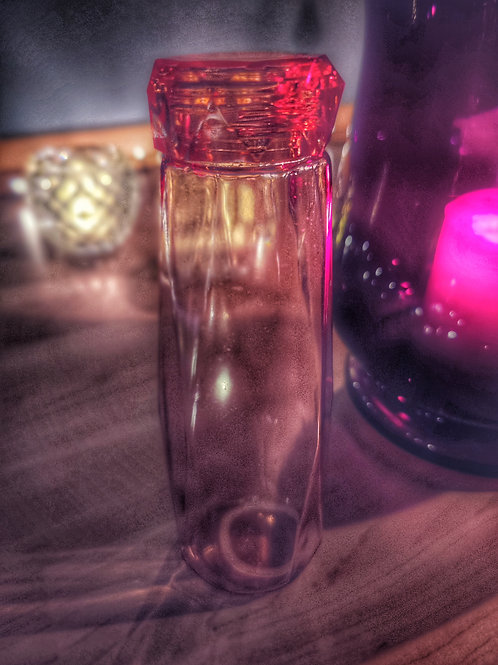 Janon sammuttava lasinen juomapullo, oranssi