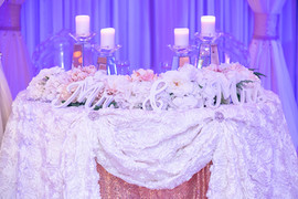 Sweetheart table/ Head table decor for wedding