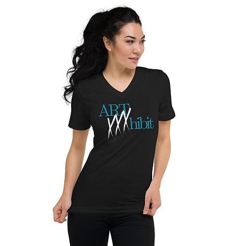 Art xxxhibit Unisex Short Sleeve V-Neck T-Shirt