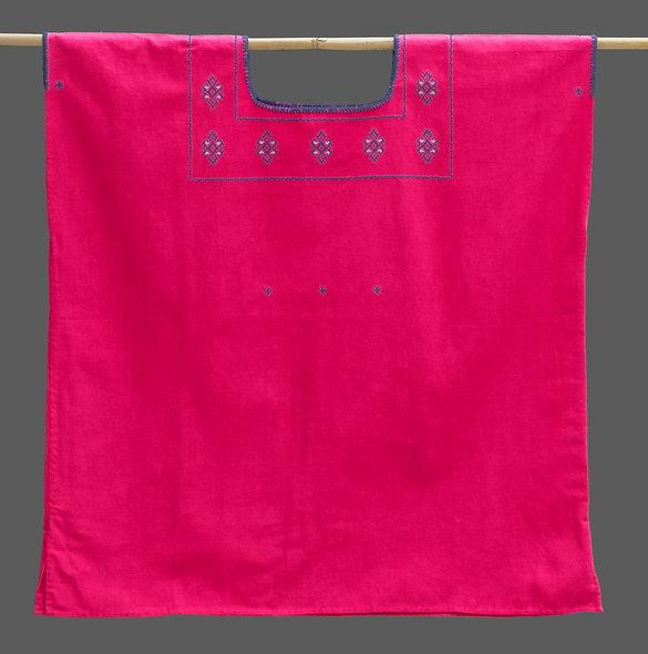 Blusa sencilla Chenalhó rosa
