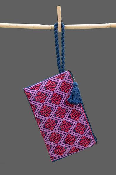 Bolsa Clutch roja - lila