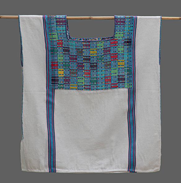 Huipil Tradicional Cancuc rayas-azul