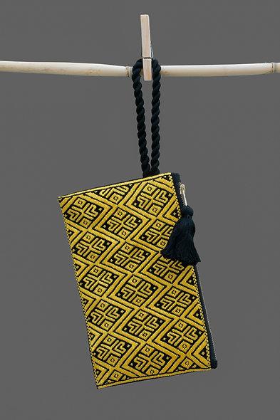 Bolsa Clutch amarillo - negro